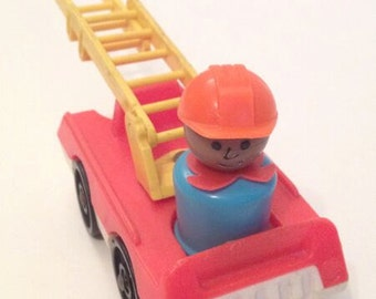 Fisher Price Little People Fire Truck and Fireman