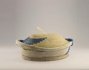 natural decorative basket-blue