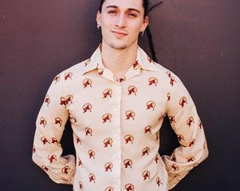 Retro 70s horse shirt