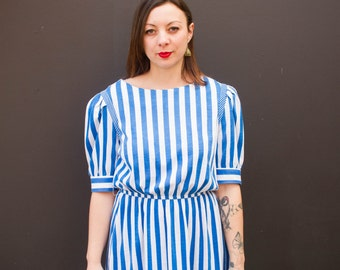 Nautical 80s Dress