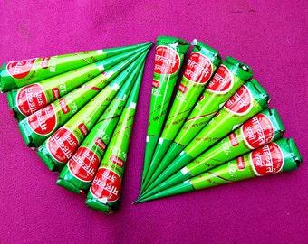 12 Organic, Fresh, Handmade 100% Natural Henna Cones