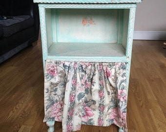 Quirky Kitsche Shabby Chic Bedside Cabinet