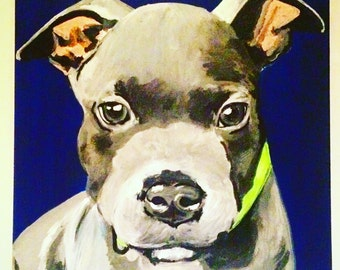 12x12 Custom Pet Painting