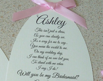 Will You Be My Bridesmaid? A6 Card (style2)