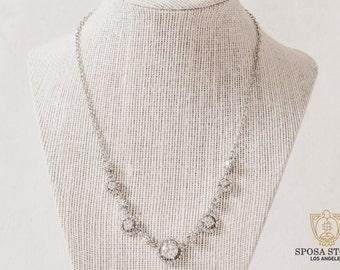 Bridal Necklace Set - Wedding Jewelry Set - Bridesmaids Set - Bridal Jewelry Set - Wedding Earrings - Bridal Necklace - Stud Earrings