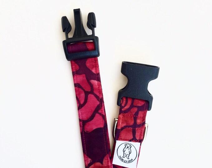 Collier pour chien - Style Batik rouge
