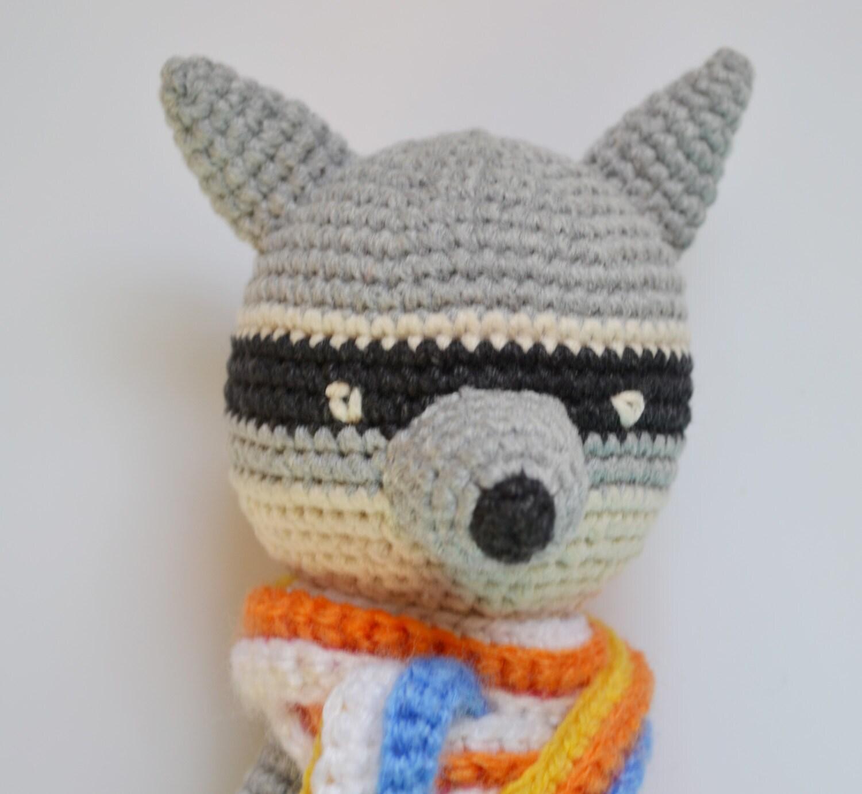 Amigurumi Crochet Toys : Amigurumi raccoon Crochet Animal Toy Amigurumi raccoon