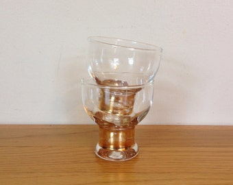 Gold stem cordial glasses