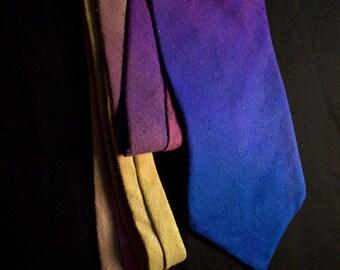 Hand Dyed, Silk Noil Necktie