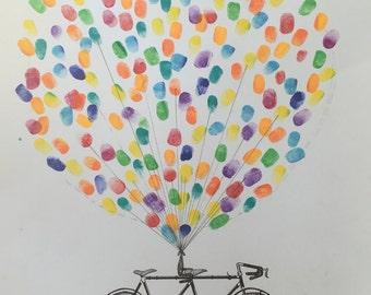Fingerprint Guest Book - Bike