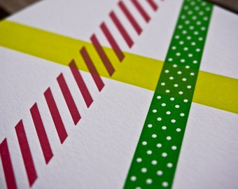Washi Tape Holiday card
