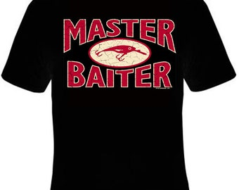 Master Baiter Funny T-Shirt Black S-5XL Humor Funny Comic Men's T-Shirts NEW