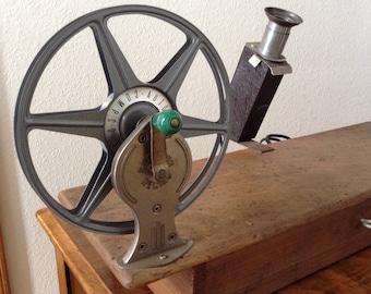 Vintage Film Editing, Primitive Wood Film Editor