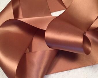Brown Satin Ribbon/Chipmunk Brown Wedding Dress Sash/Brown Bridal Belt/Rustic Wedding Belt/Country Bridal Sash/Borwn Ribbon Sash/Flower Girl