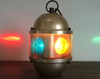 Swiss Golden Beacon Rotating Color Light; Swiss Harmony Inc Beacon Light; Model 160; Multi Colored Light; Revolving Light; Party Light