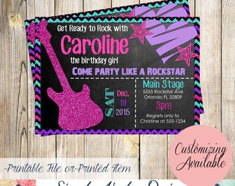 Rockstar Birthday Invitation
