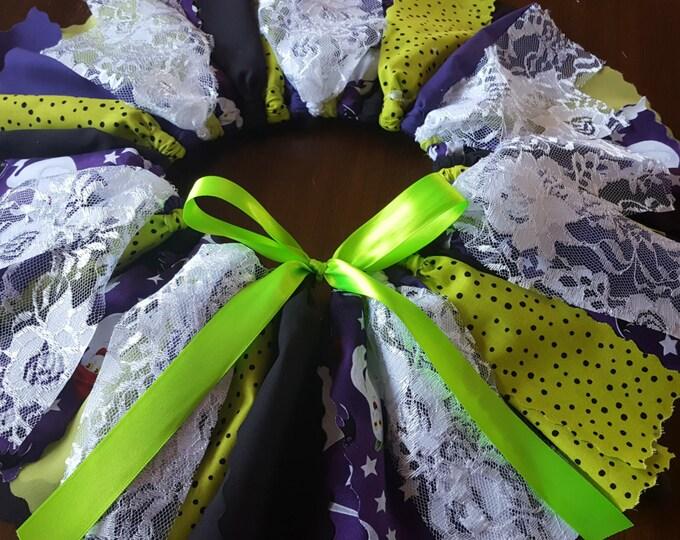 Purple & Lime Green Ghost tutu set
