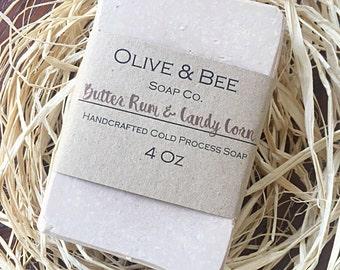 Coconut Oil Soap, Butter Rum Soap, Olive Oil Soap, Halloween Soap, Shea Butter Soap, Cream Soap, Candy Corn Soap, Cold Process Soap