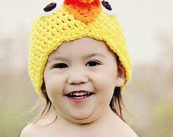 Crocheted Chick Beanie