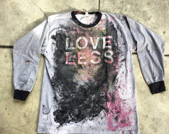 "Long Sleeve Custom One of a Kind My Bloody Valentine ""loveless"" Tee Shirt"