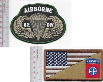 Airborne US Army 82nd Airborne Infantry Division ABN & Parachutist Wings Badge