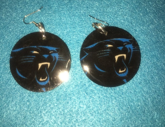 panthers earrings carolina panthers jewelry panthers fan. Black Bedroom Furniture Sets. Home Design Ideas