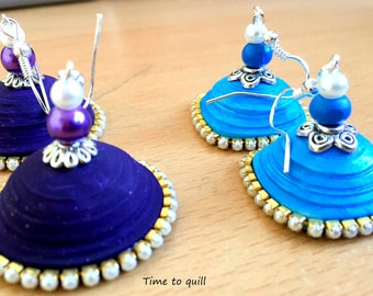 Paper Quilled Jhumka