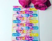 Journalling words sticker sheet