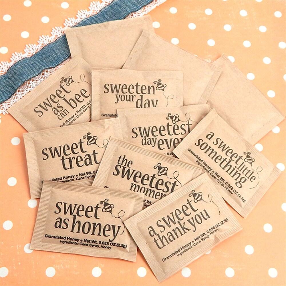 Granulated Honey Packets Sweet Sayings Wedding