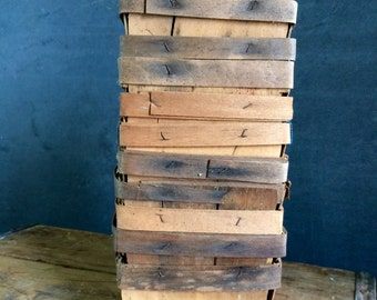 Collection Of 12 Vintage Wooden Pint Sized Berry Boxes