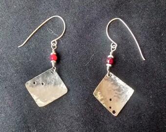 Shreddie earrings with coral