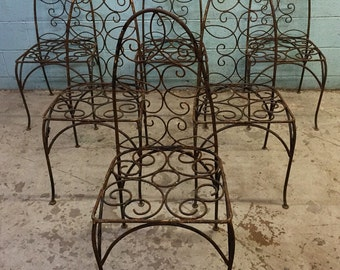 Unique Wrought Iron Salterini style Chairs