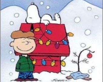"""2"""" x 3"""" Magnet A Christmas Tree with Charlie Brown Magnet"""
