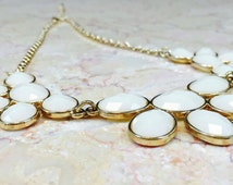 Ivory Necklace, Ivory Earrings, Necklace Earring Set, Lucite Necklace, Adjustable Necklace, Lucite Earrings, Custard Lucite, 60s Necklace