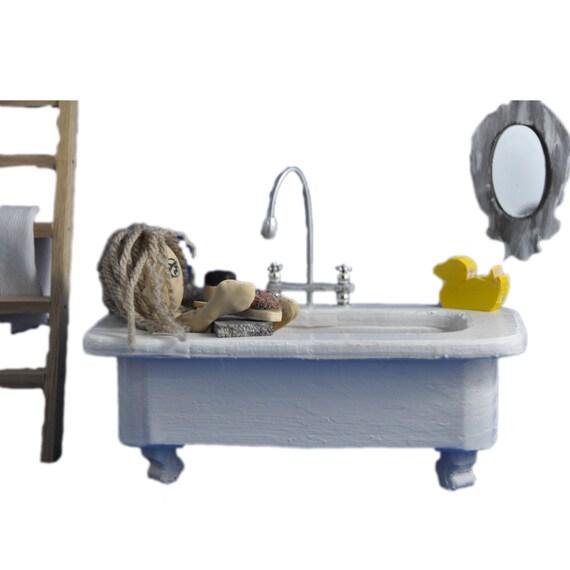Minimolly Dollhouse Furniture Bathroom Set Bath Mirror
