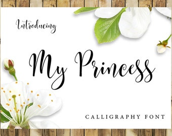 Calligraphy Font Digital download font Handwritten font download creative design modern calligraphy font Cricut Font Silhouette Font wedding