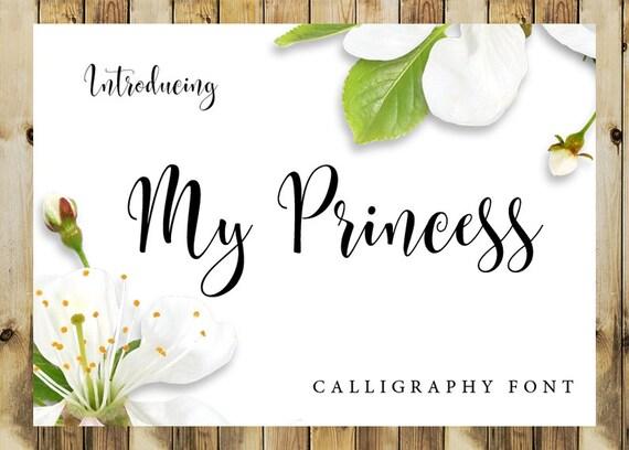 Calligraphy Font Digital Download Font Handwritten Font