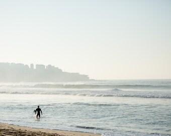 Early Surfer at Bondi travel photography print