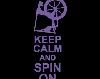 "Vinyl Car Decal - ""Keep Calm and Spin On"""