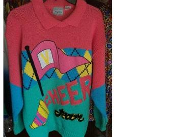 RARE Retro Varsity Cheer Sweater