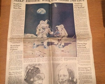 Walk on the Moon Newspaper July 21, 1969