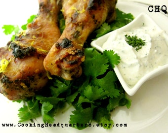 Zesty Baked Lemon Chicken Legs with Creamy Ranch Dip Recipe Dinner Recipes