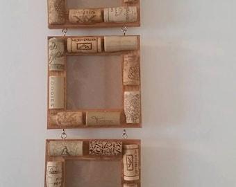 Wine cork 3 picture frame