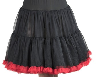 "22"" Inches Luxury Rich Layered Softest Fabrics Skirt Petticoat"