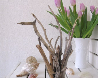 DRIFTWOOD jewelry stand or sculptures, jewelry storage, maritime decoration, bunch