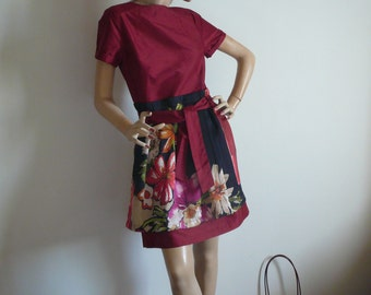 Silk & taffeta silk dress