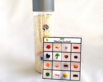 I Spy Sensory Bottle, Seek and Find, Learning Toys, Quiet Time