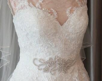 Ellen'  Crystal bridal sash