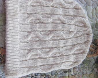 100% Alpaca Cable Knit Beanie