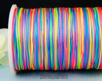 10m macrame 0.8, Rainbow coloured band article 3380